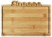 Planche à découper en bambou Cheese 26 cm