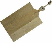 Planche à découper en bois avec corde 48 x 26 cm