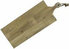 Planche à découper en bois avec corde 77 x 29 cm