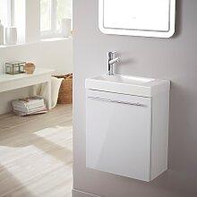 Planetebain - Meuble lave-mains design blanc