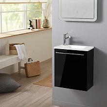 Planetebain - Meuble lave-mains pour wc noir