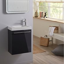 Planetebain - Meuble lave mains wc Gris anthracite