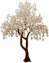 Plante Artificielle arbre Fleuri 300cm Blanc &