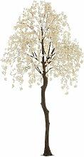 Plante Artificielle arbre Fleuri 360cm Blanc &