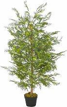 Plante artificielle avec pot Cyprès Vert 120 cm