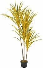 Plante artificielle avec pot Dracaena Jaune 125 cm
