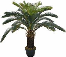 plante artificielle avec pot palmier cycas vert 90