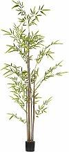 Plante artificielle bambou avec pot H160cm