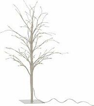 Plante Artificielle Déco Led arbre Nu 57cm Blanc