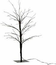 Plante Artificielle Déco Led arbre Nu 57cm Noir -