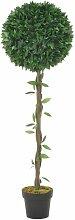 Plante artificielle Laurier avec pot Vert 130 cm
