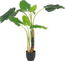 Plante philodendron artificielle 2 troncs 120 cm