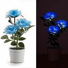 Plantes artificielles à LED à énergie solaire