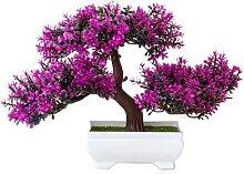 Plantes artificielles en pin bonsaï, petit arbre,