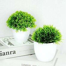 Plantes artificielles en Pot bonsaï vert, petit