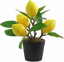 Plantes artificielles Flowerpot Citron Bonsai Mini