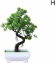 Plantes bonsaï artificielles en pot, petit arbre
