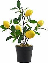 Plantes imitation artificielle Flowerpot Citron