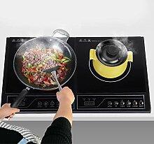 Plaque à induction double 3400 W, plan de cuisson