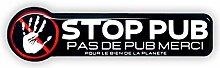 Plaque Boite Aux Lettres Etiquette STOP 1pcs Pour