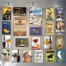 Plaque de bière, café, Plaque en métal Vintage,