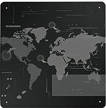 Plaque murale en métal - Motif carte du monde -