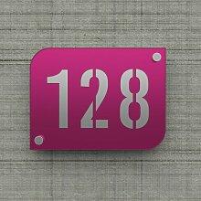 Plaque numéro de rue / maison violet design avec