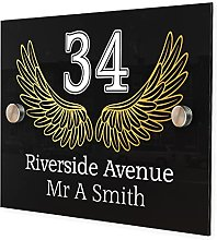 Plaque personnalisable avec numéro de rue et nom