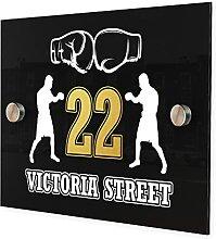 Plaque personnalisée avec numéro de rue et