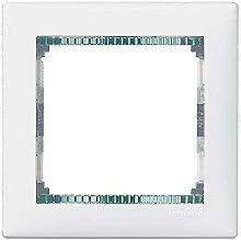 Plaque walena 1 élément blanc et verre Legrand