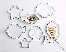 Plaques Bol Dinner Assiette, Vaisselle marine