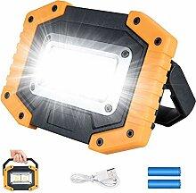 Plartree Projecteur LED Rechargeable, Lampes de