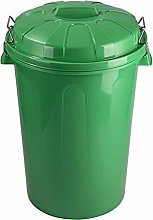 Plastic Forte Poubelle avec couvercle Vert 100 l