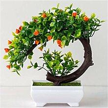 Plastique artificiel bonsaï faux plantes fleur
