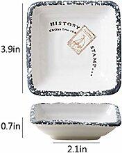 plat plat en plastique Céramique petit plat