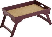 Plateau de lit pliable en bois 48,5x32,5cm