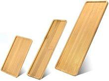 Plateau de service en bois de bambou, tasse à