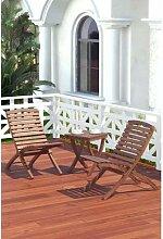 Pliant Portable jardin 2Pc chaise + Table café