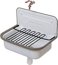 Plieger Basic Lavabo déversoir complet Blanc