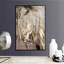 Plume Or Couleur Lampe Affiche Toile Impression