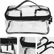 Pochette de rangement cosmétique transparente de