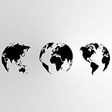 Pochoir réutilisable à motif carte du monde à