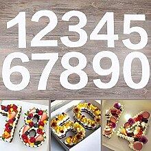 Pochoirs à gâteau Chiffres 0 à 8 25,4 cm Moules