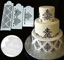Pochoirs à gâteaux en papier artisanal, 3