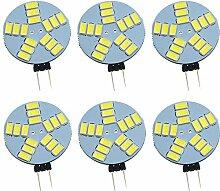 Pocketman Pack de 6 ampoules LED Dimmable G4,