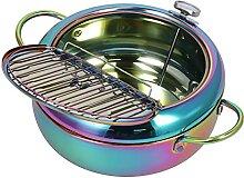 Poêle à frire, friteuse en acier inoxydable pour