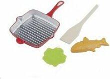 Poele à frire poisson salade cuillère dinette