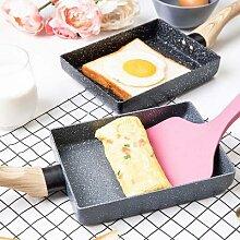 Poêle à frire Tamagoyaki antiadhésive noire,