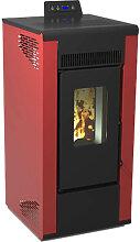 Poêle à granulés Tectro TBH 567 rouge Qlima