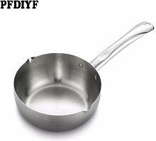 Poêle à lait antiadhésive en acier inoxydable,